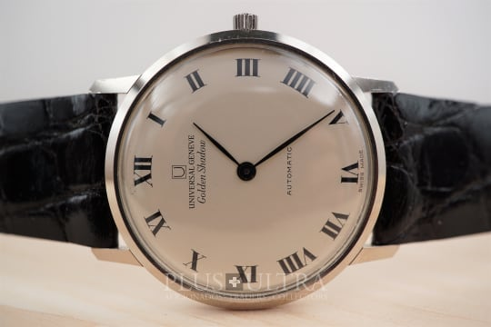 Universal Geneve Slim White Gold Cased Microrotor Automatic Golden Shadow, 1966