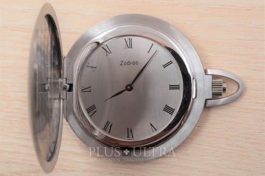 Zodiac 18K White Gold Dress Pocket Watch