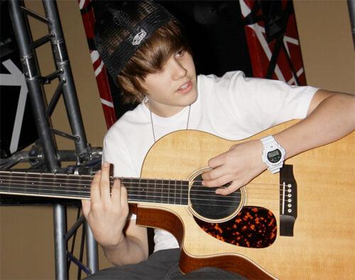 Justin Bieber wearing G-Shock 6900