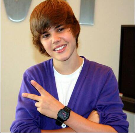 Justin Bieber wearing G-Shock 5600