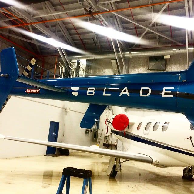 Blade hangar tail