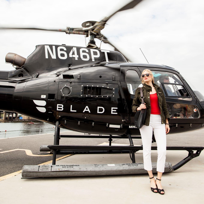 Blade runway red shirt woman fashion pose