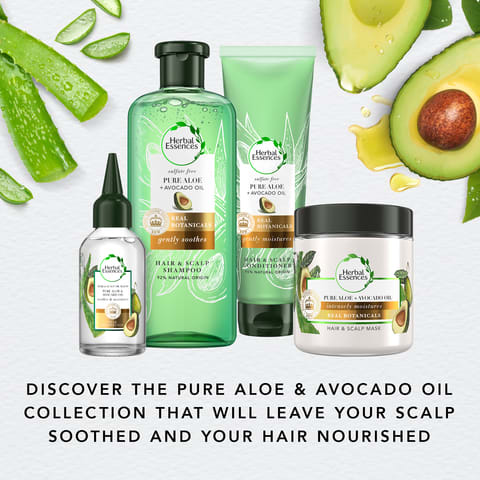 Discover the pure aloe & avocado oil