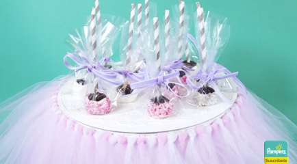 Recuerdo para Baby Shower de Niña: Brownies de Princesa