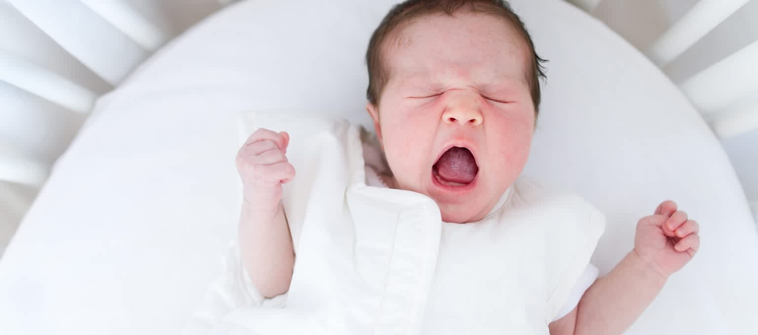Baby in a bassinet