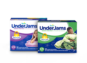Pampers underjams absorbent night wear for boys and girls