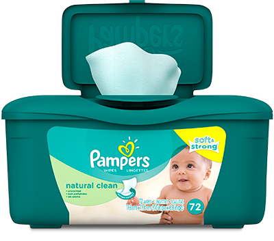 Toallitas húmedas Pampers® Natural Clean