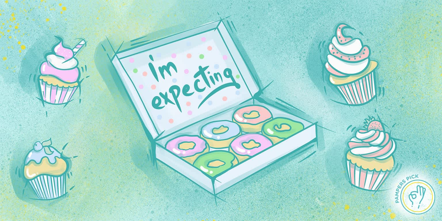Announcing your pregnancy with food