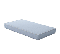 Heavenly Dreams White Crib and Toddler Bed Mattress