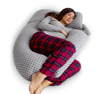 U-Shaped Pregnancy Pillow with Detachable Extension