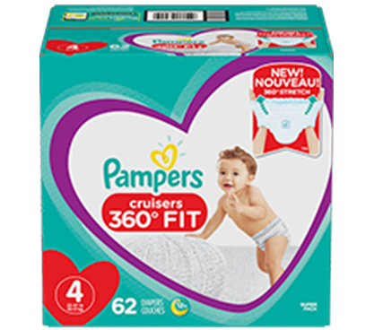 Pañales Pampers® Cruisers 360º Fit
