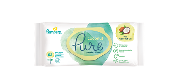 Pampers® Coconut Pure Wipes