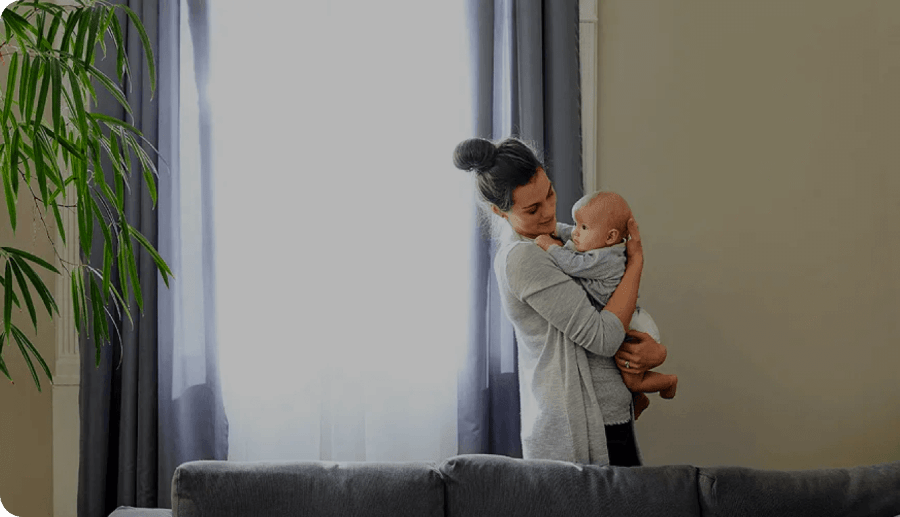 Improved baby sleep with Lumi