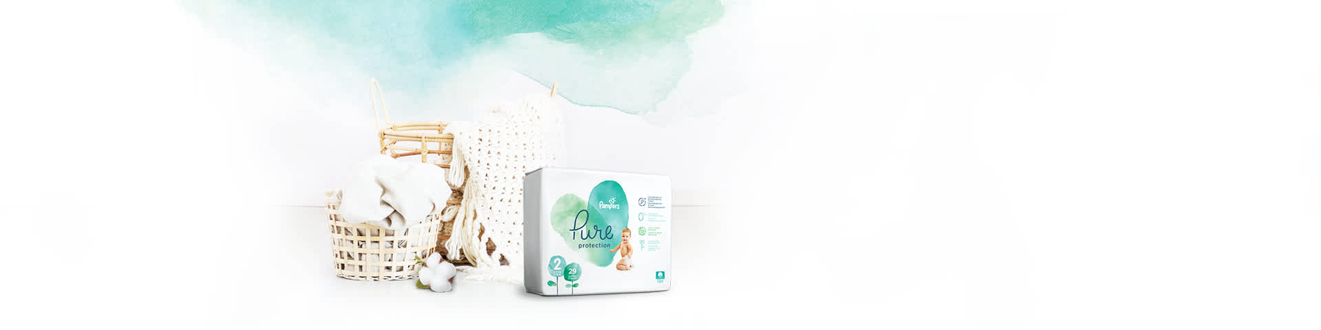 Подгузники Pampers Pure Protection