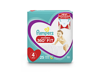 DIAPERS <br /> Pampers Cruisers 360° Fit ®