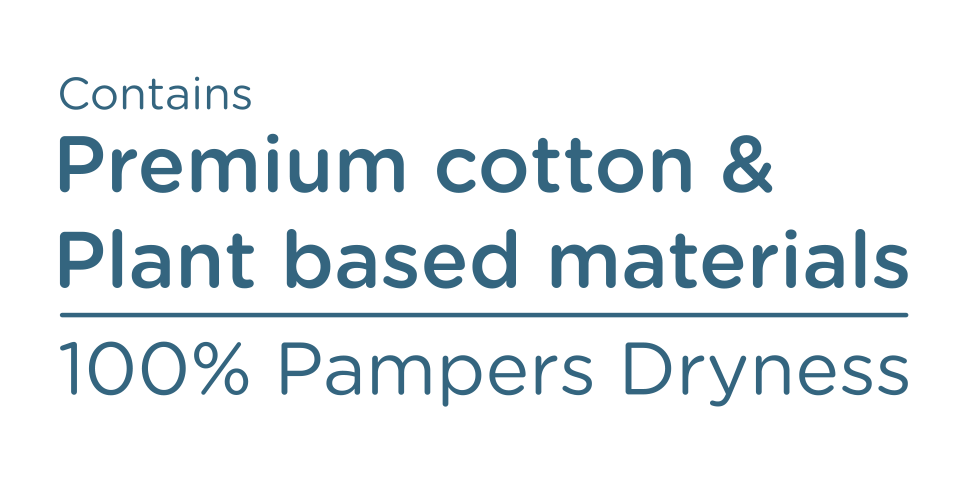 0% compromise 100% Pampers Dryness