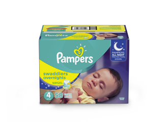 DIAPERS <br /> Pampers® Swaddlers Overnights™