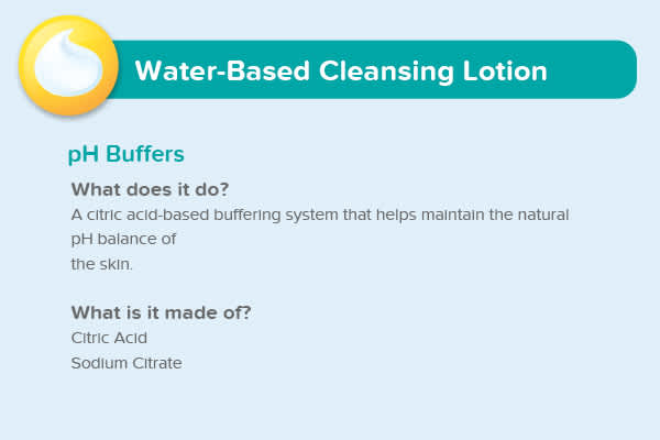 Water-Based Lotion pH Buffers