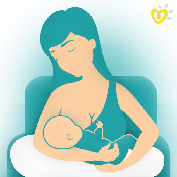 Breastfeeding Mother Using the Cradle Hold