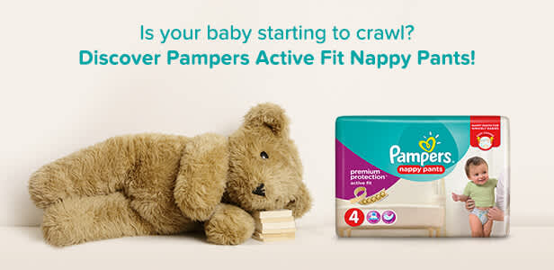 Discover Pampers Active Fit Nappy Pants!