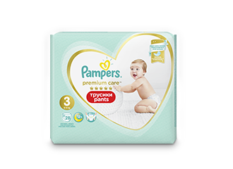 Трусики Pampers® Premium Care Pants™