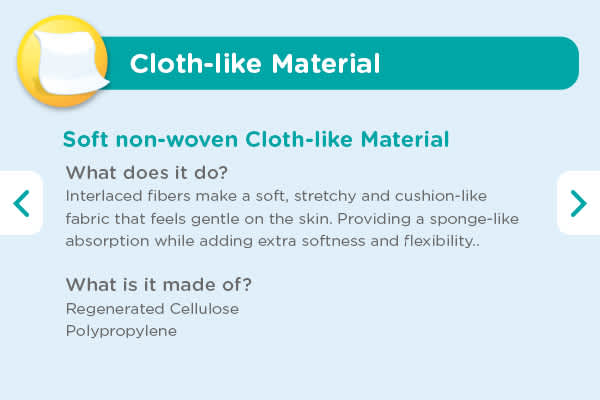 Soft Nonwoven Cloth-Like Material