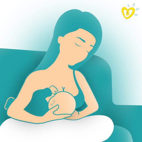 Breastfeeding Mother Using the Rugby Ball Hold
