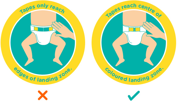 When to switch nappy size