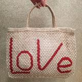 LOVE JUTE - NATURAL AND RED 1