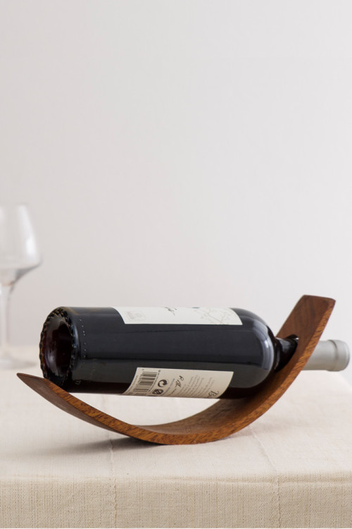 Hand-carved Wooden Wine Bottle Holder 3
