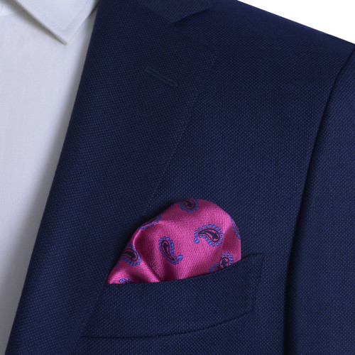 YHIM Pocket Square Blue 2