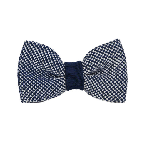 POLKA DOT SILK KNITTED BOW TIE Image