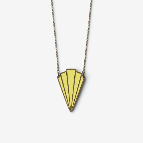 Art Deco Necklace Couronne Lemon Image