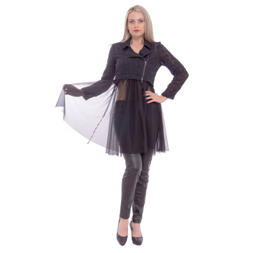 crop jacket with tulle Image