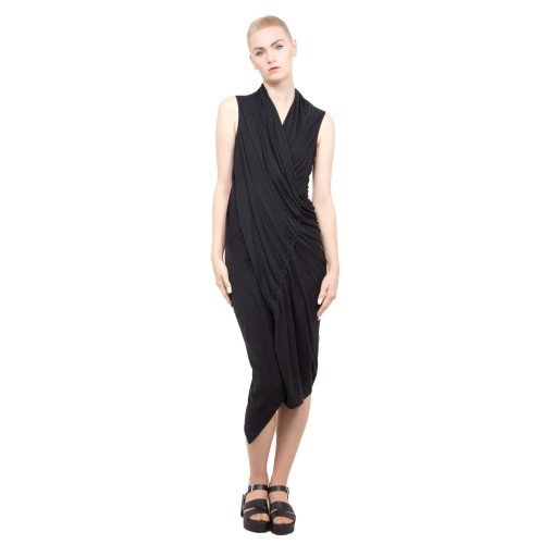 draped asymmetric dress Image