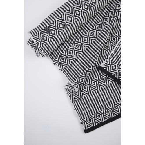 Braid Cotton Rug - Black and White Image