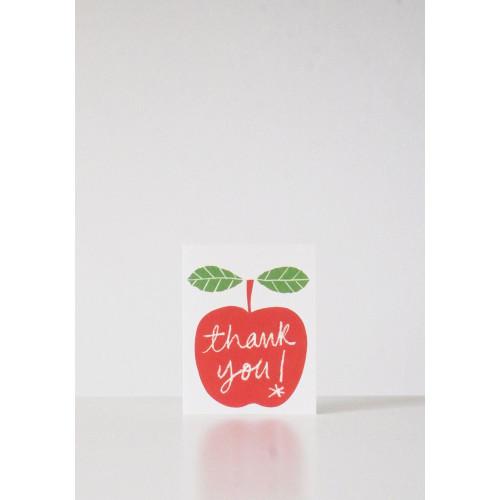 Apple Thank You Card by Lisa Jones Image