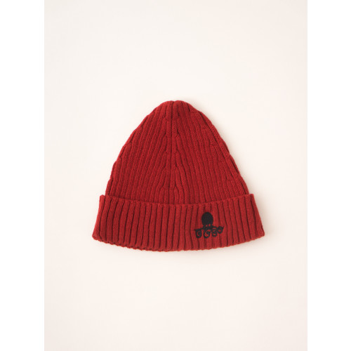 Bobo Choses Cousteau Beanie Hat in Red Clay Image
