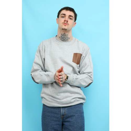 Army Grey Elbow Patch Sweatshirt Image