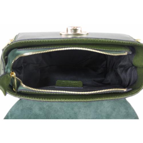 Carolina, Navy Blue Leather Handbag, Made in Italy Image