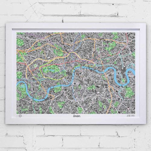 A1 London Map Image