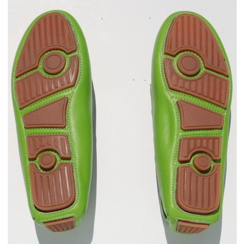 Green Leather Driving Shoe Image