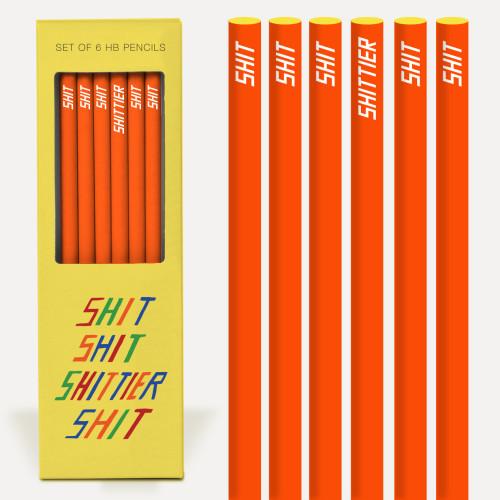 Shit Shit Shittier Shit Pencil Set Image