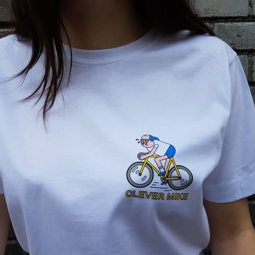 Clever Mike Rides Unisex T-Shirt Image