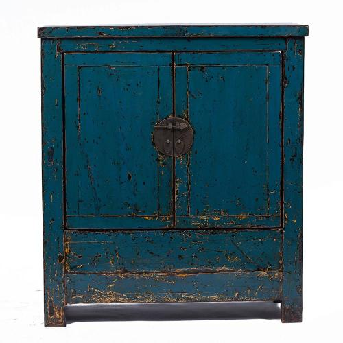 Vintage Blue Chinese Cabinet form Shanxi Image