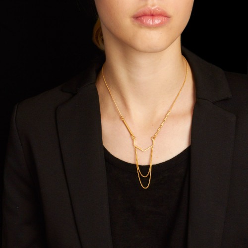 Ad Astra Gold Necklace Image