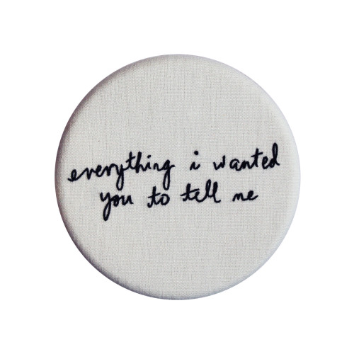 Everything I wanted you to tell me - Hand embroidered copper hook Image