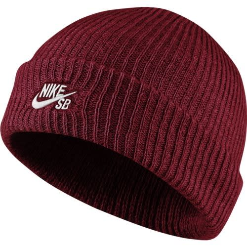 Nike Skateboarding Fisherman Beanie cap in dark red Image