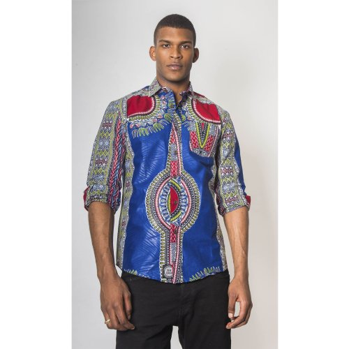 Bambo Dashiki - Long-Sleeved Shirt - Men's Image