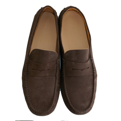 Mens Brown Suede Driving Shoe Image